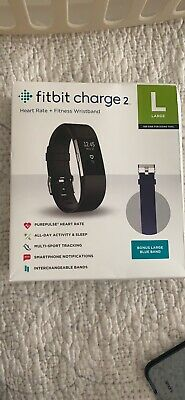 $ CDN47.84 • Buy Fitbit Charge 2 HR Heart Rate Monitor Fitness Wristband Tracker -Black Large