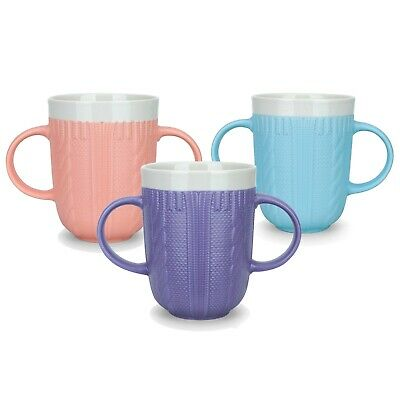 £6.99 • Buy Two Handled Drinking Mug Cup Disability Drinking Aid Weak Grip Double Handed