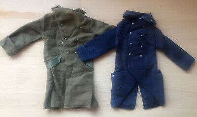 £9 • Buy Vintage Action Man Great Coats - ESCAPE OFFICER & FRENCH FOREIGN LEGION