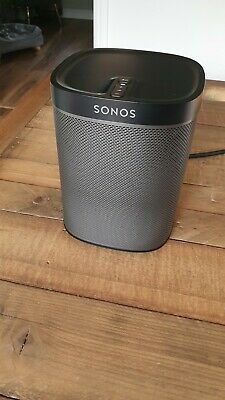 AU69.14 • Buy Sonos Play:1 Compact Wireless Smart Speaker - Black With Wall Mount