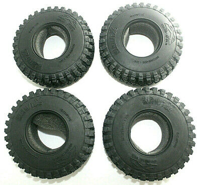 £21.02 • Buy 4X RC Crawler Tyres 1.9  106mm OD With Foam Inserts 1/10 Axial XCX10 TRX4 D110