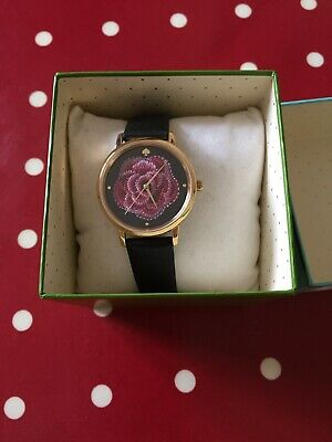 $ CDN8.66 • Buy Kate Spade New York Ladies Gold Tone Rose With Black Leather Strap Watch