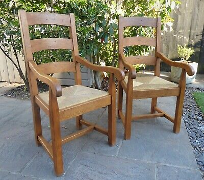 £60 • Buy Pair Of Antix Solid French Oak Rustic Farmhouse Carver Dining Chairs