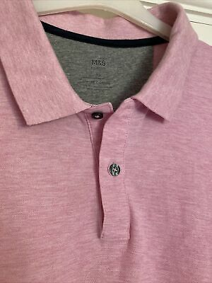 £1.50 • Buy Marks And Spencer Mens Dusty Pink Polo Shirt XL
