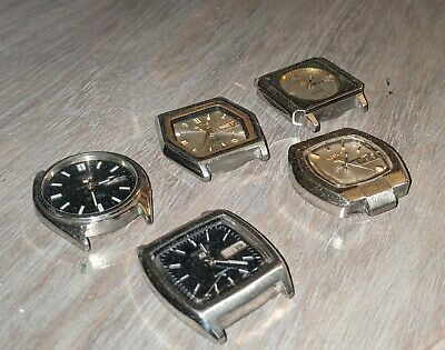 $ CDN18.22 • Buy 99p NO RESERVE Job Lot 5x Vintage Seiko Automatic Watches Spares & Repairs