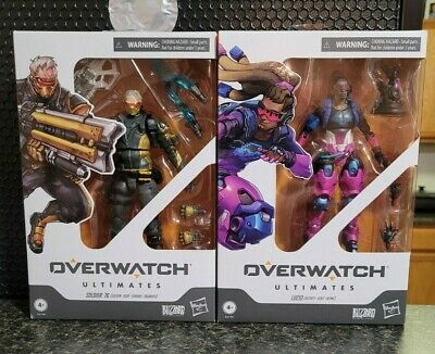 AU43.48 • Buy Hasbro Overwatch Ultimates Lucio Bitrate And Soldier 76 Golden 2 Figure Lot