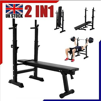£46.98 • Buy Heavy Duty Adjustable Folding Sit Up Weight Bench Barbell Dip Station Lifting UK