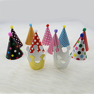 £5.81 • Buy 11Pcs Mini Party Hat 9 Cone Hat And 2 Crown For Birthday Christmas Fun