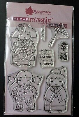 £3.25 • Buy Woodware Three Little Maids Clear Magic Singles Stamp