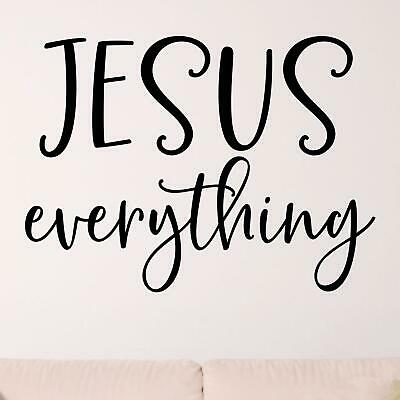 £15.95 • Buy Jesus Everything Wall Sticker Decal  Quote Christian Religious Bible Décor