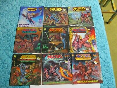 $50 • Buy 9 VINTAGE  MASTERS OF THE UNIVERSE And SHE RA 1980's GOLDEN BOOKS Never Read