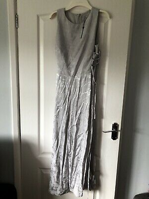 £37.99 • Buy Coast Silver Jumpsuit Size 14 BNWT Corset Style Ties To Sides Wedding Occasion