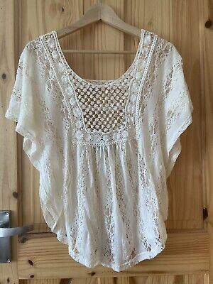 $ CDN13.90 • Buy Anthropologie Sunday Cream Lace Top Small