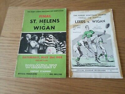 £2.50 • Buy Rugby League Challenge Cup Final & Semi Final Programmes, 1966, Wigan