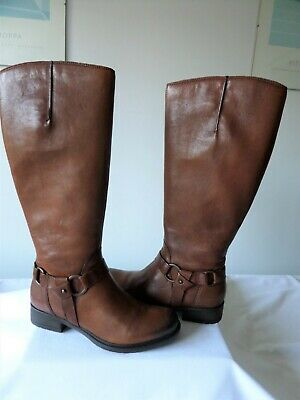 £59.99 • Buy Clarks Woman's Knee High Boots- Mortimer Judi Tan Leather Size 3.5(36) Fit D New