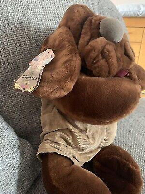 £40 • Buy VINTAGE 80s GANZ BROS WRINKLES PUPPY DOG HAND PUPPET SOFT TOY With Orginal Tags