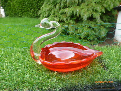 £3.49 • Buy Stunning : Red : Glass : Murano Swan Dish / Ornament  :  Low Reserve £3.49