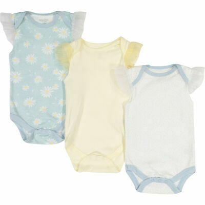£9.99 • Buy KYLE & DEENA Three Pack Multicolour Patterned Baby Bodysuits Playsuit 0-3 Months