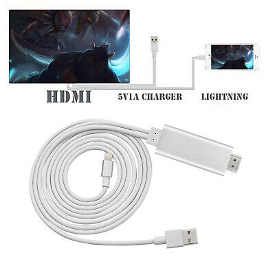 £10.71 • Buy Mini USB 8 Pin To HDMI Cable Adapter HDTV AV 2M For IPhone 6S 7 8 Ipad