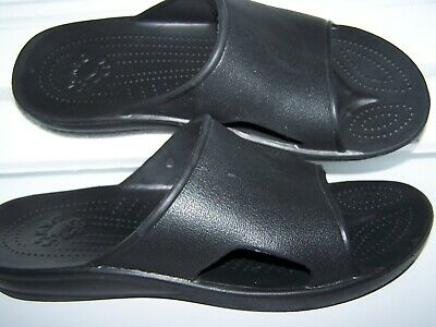 $19.99 • Buy NEW! DAWGS Men's Size 10 / 44 All Black Slides Sandals Comfort! Not A Thong