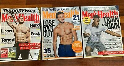 £1.50 • Buy Men's Health Magazine Bundle 2019 Aug Sep Oct Fit Body Muscle Exercise Stress Fa