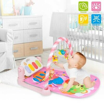 £14.99 • Buy Baby Gym Floor Play Mat Musical Activity Center Play Piano Mat With Hanging Toys