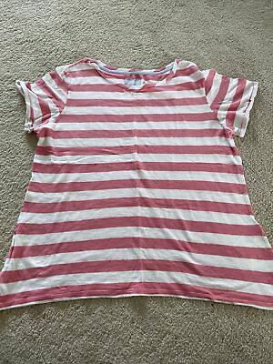 £1.99 • Buy Joules Pink And White Stripe T Shirt Size 16