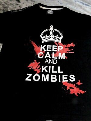 £4.99 • Buy Men's Obscene Clothing T-shirt Keep Calm And Kill Zombies SIZE XL
