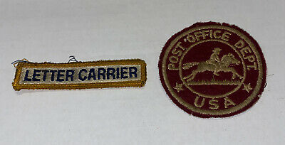 $24.79 • Buy Vintage US Mail & Post Office Dept Letter Carrier Lot Of 2 Patches USPS Free Shp