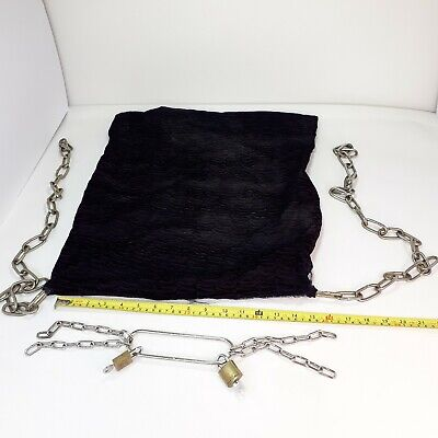 £24.87 • Buy Handcuff Escape Magic Trick Stage Escapology Houdini Magic + Bag With Chain PROP