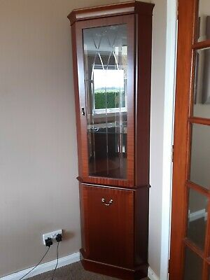 £30 • Buy Corner Wooden And Glass Display Cabinet