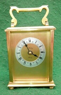 £9.99 • Buy Vintage HENLEY Brass Quartz Carriage Clock With Hermle Movement