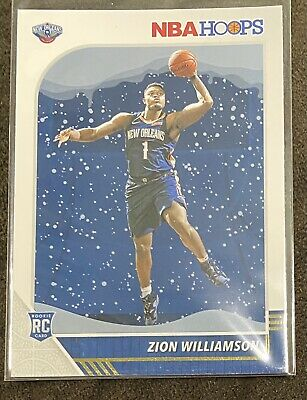 $8.50 • Buy 2019-20 Zion Williamson NBA HOOPS Holiday Winter Snow RC #258 Rookie Card