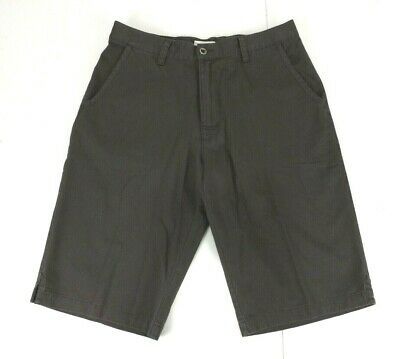 AU35 • Buy Puma Size L Shorts Grey Taupe Flat Front Metal Buttons Knee Length Casual