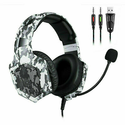 AU2.25 • Buy AU 3.5mm Grey Wired Gaming Headset Noise Canceling LED Lighting For Gamer PS4 PC