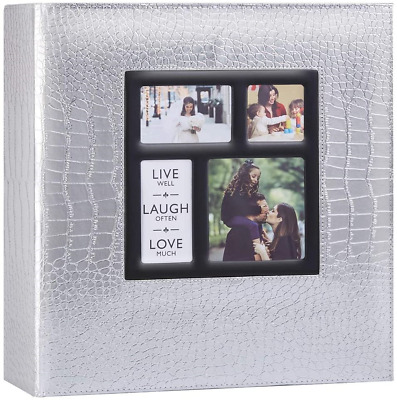 £25.47 • Buy Photo Album 1000 Pockets 6x4 Photos Croco, Extra Large Size Leather Cover