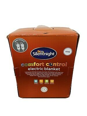 £12 • Buy Silentnight King Size Comfort Control Electric Blanket (Hardly Used) - White