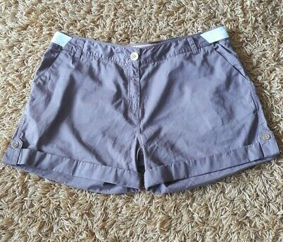 £9.99 • Buy Gorgeous SIZE 18 Joules 'Rollup' Chocolate Cargo Chino Safari Shorts With Bow