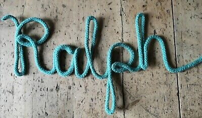£1.50 • Buy Personalised Knitted Wire Word Door Sign Nursery Decor Home Price Per Letter