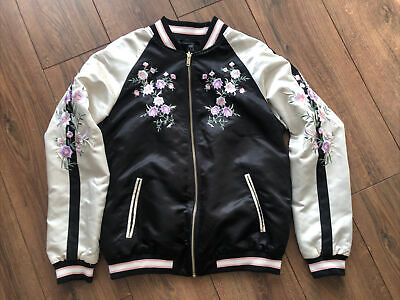 £4 • Buy F&F Embroidered Silk Bomber Jacket Size 12