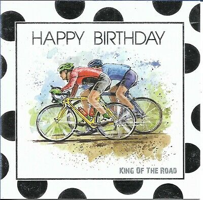 £2.35 • Buy Open Male Birthday Greeting Card 6 X6  Cycling Design Free P&p