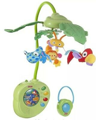 £13 • Buy Fisher Price Rainforest Peek A Boo Leaves Musical Mobile For Baby Cot -Classical