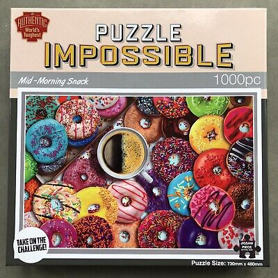 £9 • Buy Puzzle Impossible Mid-morning Snack Doughnut 1000 Piece Jigsaw Puzzle
