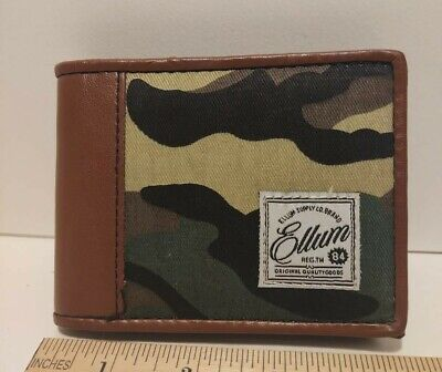$14.90 • Buy Camo Leather Wallet Bifold Brand New Genuine Leather Camouflage Mens