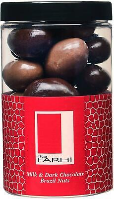 £11.49 • Buy Milk And Dark Chocolate Covered Brazil Nuts In A Gift Jar | Vegetarian - 290 G