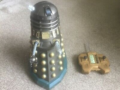 """£50 • Buy Dr Who  Rare Bronze Dalek Figure 12 """" Remote Control Figure Fully Working"""