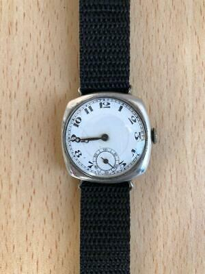 £182.46 • Buy 1920s WW1 Officers Military Swiss Made Trench Sterling Silver 935 Favre W Watch