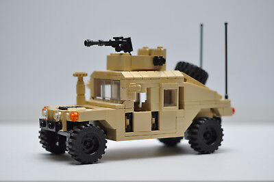 $63 • Buy Military HMMWV Hummer Truck Army Tank Tan Model Built With Real LEGO