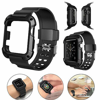 $ CDN7.24 • Buy For Apple Watch Series3/2/1 IWatch Band Strap With Case Protective Cover 42mm
