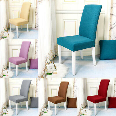 AU7.99 • Buy Dining Chair Seat Covers Spandex Slip Banquet Home Protective Stretch Covers